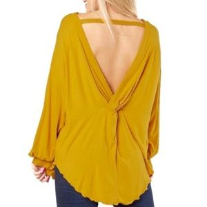 NWT FREE PEOPLE SHIMMY SHAKE VBACK IN UNTAMED GOLD
